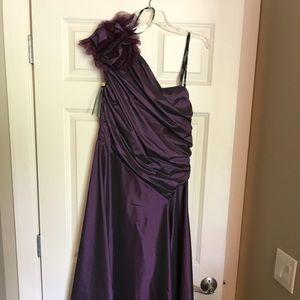 Tadashi Shoji amethyst formal dress